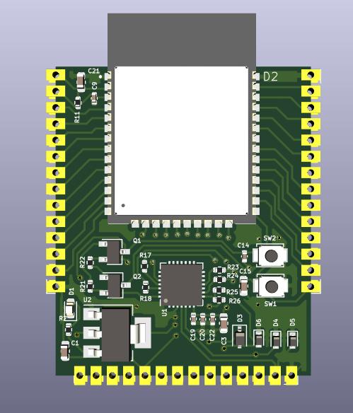 stamp_esp32 - a minimal form factor ESP32 development board - Cover Image